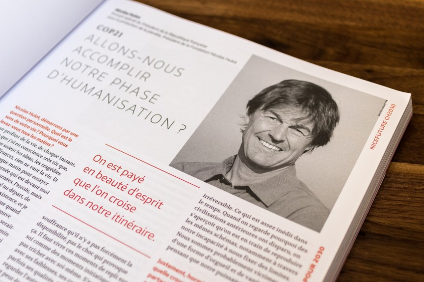 Nicolas Hulot dans le NiceFuture Magazine CH2030