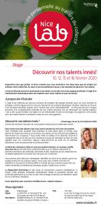 Nicelab 2020 - 01 - Découvrir nos talents innés - 10-12-15-16 février 2020(1)
